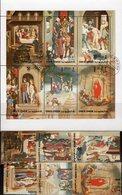 Osterpassion 1972 Kaiwain 515/0+Kleinbogen O 9€ Gemälde Maler Memling Eastern Ss Bloc Art Sheetlet Bf Umm Al Qiwain - Umm Al-Qiwain