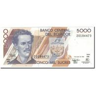 Billet, Équateur, 5000 Sucres, 1999-03-06, KM:128c, NEUF - Equateur