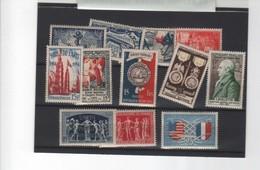 FRANCE-1946/50  10 VALEURS- Neufs** Sans Charnière - France