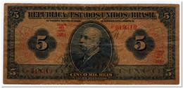 BRAZIL,5 MIL REIS,1925,P.29c,HAND SIGNED,FEW PINHOLES - Brasile