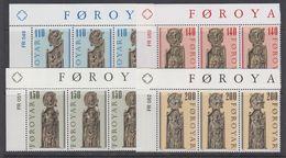 Faroe Islands 1980 Pews Of Kirkjubour 4v Strip Of 3 (40355D) - Faeroër