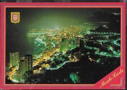 MONTECARLO - PANORAMA NOTTURNO - VIAGGIATA1991 - ANNULLO A TARGHETTA - Monte-Carlo