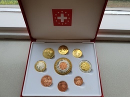 ZWITSERLAND ONTWERPSET PROBASET EURO'S 1 CT. T/M 5 EURO (9 PCS.) PROOF - EURO