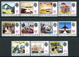 Seychelles 1969-75 Pictorial Definitives - White Paper - Set MNH (SG 263a-276a) - Seychelles (...-1976)