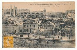 """Lille -  Explosion Du Bastion Dit """"18 Ponts"""" 11 Janvier 1916 - Boulevard D'Alsace - Cité Douai - Lille"""