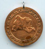 LUTTE RINGEN USSR Tournament Voronezh 1970-80s Wrestling Medal Medaille - Habillement, Souvenirs & Autres