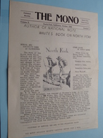 """"""" The MONO """" NORTH FORK Union SCHOOL California October 1945 Nr. 4 Volume X ( 4 Pag.- See Photos For Detail ) ! - Diplômes & Bulletins Scolaires"""