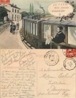 D- [512206] Carte-France  - (88) Vosges, Je Pars, Mille Amitiés De Saint-Dié,Fleurs - Autres Communes