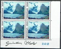 Faroe Islands 1975. Painting. Michel 18, Plate Block MNH.  Signed. - Féroé (Iles)