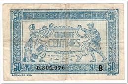 FRANCE,MILITARY,50 CENTIMES,1917,P.M1,F-VF - Bonds & Basic Needs