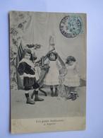 Cpa 1905 De La Série Les Petits Indiscrets  - N° 4  ( Avec Défaut Semelle Décollée) - Groupes D'enfants & Familles