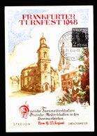 A5605) Bizone Sonderkarte Frankfurter Turnfest 1948 - Bizone