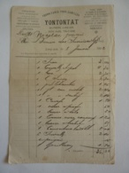 """CAMBODGE  Facture 1902 """"Fournitures Pour Camelles"""" YONTONTAT HAIPHONG LANG-SON DONG THAY-KHE (autographes) Clas 4 - Invoices & Commercial Documents"""