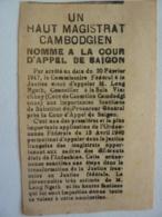 """POLITIQUE, VIET NAM EXTRAIT DE JOURNAL """" Haut Magistrat Cambodgien 1947 Leng Ngeth Nomme Cour Appel De SAIGON Clas 4 - 1800 - 1849"""
