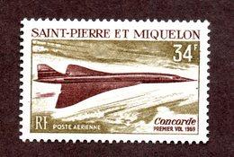 St Pierre Et Miquelon PA N°43 N* TB  Cote 40 Euros !!! - Neufs