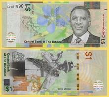 Bahamas 1 Dollar P-77 2017 UNC - Bahama's