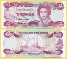 Bahamas 3 Dollars P-44 1984 UNC - Bahamas