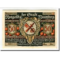 Billet, Allemagne, Naumburg A.S. Stadt, 50 Pfennig, Personnage 2, 1920, SPL - Alemania