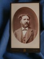 Photo CDV Borderia à Reims  Portrait  Homme  Favoris Et Moustache (Famille Leterme) - CA 1880 - L389G - Anciennes (Av. 1900)