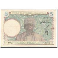 Billet, French West Africa, 5 Francs, 1942-04-22, KM:25, TTB+ - États D'Afrique De L'Ouest