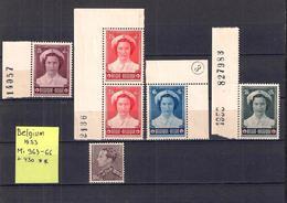 Belgium 1953. Mi: 963-66, 430, MNH** (2c) - Belgique