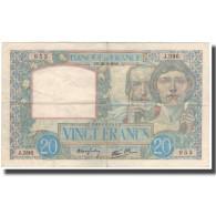 France, 20 Francs, 20 F 1939-1942 ''Science Et Travail'', 1940-02-22, TTB - 1871-1952 Anciens Francs Circulés Au XXème