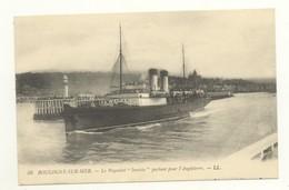 """62/CPA A - Boulogne Sur Mer - Le Paquebot """"Invicta"""" Partant Pour L'Angleterre - Boulogne Sur Mer"""
