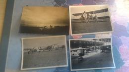 4photo Guerre 14 18. Avions Secteur Haut Et Bas Rhin - Aviation