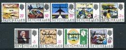 Seychelles 1976 Independence Overprint Set Used (SG 374-382) - Seychelles (1976-...)