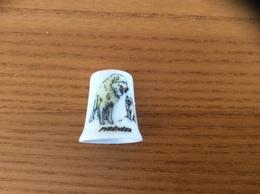 """Dé à Coudre Porcelaine """"PYRÉNÉES"""" (chien) - Dés à Coudre"""