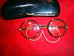 ANCIENNE LUNETTE RONDE 1900 HOMME AVEC ETUI - Brillen