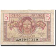 France, 5 Francs, 1947 French Treasury, 1947, TTB, Fayette:29, KM:M6a - Tesoro