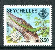 Seychelles 1977-84 Wildlie - No Imprint Date - 3r50 Green Gecko MNH (SG 415A) - Seychelles (1976-...)