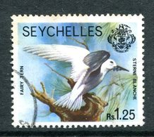 Seychelles 1977-84 Wildlie - No Imprint Date - 1r25 White Tern Used (SG 413A) - Seychelles (1976-...)