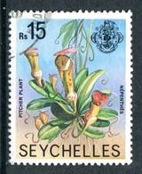 Seychelles 1977-84 Wildlie - No Imprint Date - 15r Pitcher Plant Used (SG 418A) - Seychelles (1976-...)