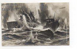 U3696/ Seeschlacht Bei Helgoland Foto AK Willy Stöwer 1914  Marine - Krieg