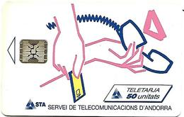 @+ Andorre - Logo STA N°1 - 20 000ex - Ref : AND006 (1992) - N° De Srie 39963 - Andorra
