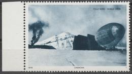 Zeppelin POLAR PHILATELY Nobile North Pole CREMONA Italy 1978 Stamp Philatelic Exhibition LABEL CINDERELLA VIGNETTE - Zeppelin