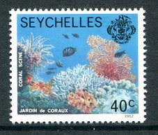 Seychelles 1977-84 Wildlie - 1982 Imprint Date - 40c Coral Scene MNH (SG 409B) - Seychelles (1976-...)