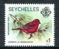 Seychelles 1977-84 Wildlie - 1982 Imprint Date - 1r Red Foddy MNH (SG 412B) - Seychelles (1976-...)