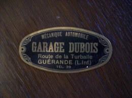 Plaque Métallique, Petit Format: Garage Dubois, Guérande, Mécanique Automobile - Advertising (Porcelain) Signs