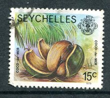 Seychelles 1977-84 Wildlie - 1979 Imprint Date - 15c Coco-de-mer Used (SG 406B) - Seychelles (1976-...)