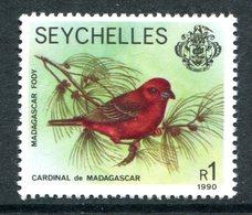 Seychelles 1981-91 Wildlife - 1990 Imprint Date - 1r Red Fody MNH (SG 487) - Seychelles (1976-...)