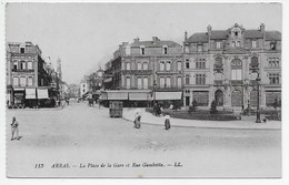 DC 1294 - ARRAS - La Place De La Gare Et Rue Gambetta - LL 113 - Arras