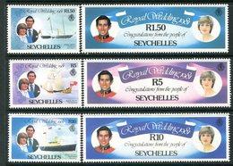 Seychelles 1981 Royal Wedding Set MNH (SG 505-510) - Seychelles (1976-...)
