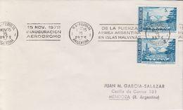 Argentina 1973 Inauguration Aerodromo De La Fuerza Aerea Argentina En Islas Malvinas Ca 15 Nov 1973 Cover (40359) - Argentinië