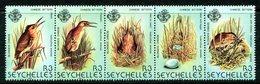 Seychelles 1982 Birds - 4th Issue - Chinese Little Bittern Set MNH (SG 523-527) - Seychelles (1976-...)