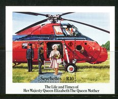 Seychelles 1985 Life And Times Of Queen Elizabeth The Queen Mother MS MNH (SG MS618) - Seychelles (1976-...)