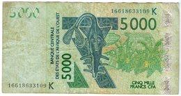 Sénégal Banque Centrale Afrique De L'Ouest West African 5000 Francs 2003 P717K - Senegal