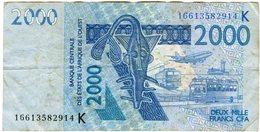 Sénégal Banque Centrale Afrique De L'Ouest West African 2000 Francs 2003 P716K - Sénégal